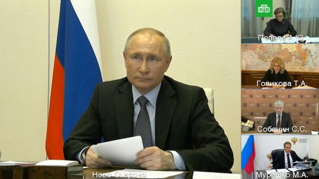 Путин допустил привлечение медиков Минобороны кборьбе сCOVID-19 вРоссии.болезни, врачи, коронавирус, медицина, Путин, эпидемия, Минобороны РФ.НТВ.Ru: новости, видео, программы телеканала НТВ