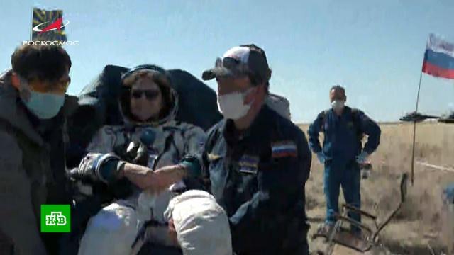 Международный экипаж МКС вернулся на Землю.МКС, космонавтика, космос.НТВ.Ru: новости, видео, программы телеканала НТВ