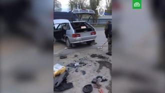 Взрыв машины вВолгограде: видео сместа