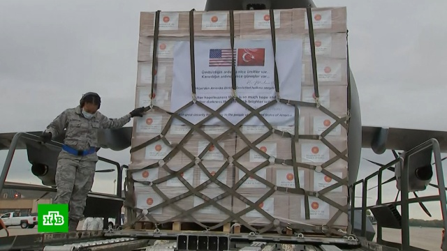 Турция отправила вСША спецборт скомплектами спецодежды для врачей.здравоохранение, Турция, медицина, здоровье, болезни, эпидемия, США, коронавирус.НТВ.Ru: новости, видео, программы телеканала НТВ