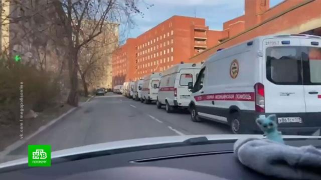 ВПетербурге объяснили очереди из машин скорой помощи убольниц.Санкт-Петербург, больницы, коронавирус, медицина, эпидемия.НТВ.Ru: новости, видео, программы телеканала НТВ