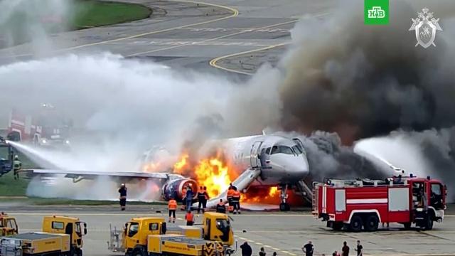 СК опубликовал видео катастрофы Superjet вШереметьево в2019году.Следственный комитет, авиационные катастрофы и происшествия, аэропорт Шереметьево, расследование, самолеты.НТВ.Ru: новости, видео, программы телеканала НТВ