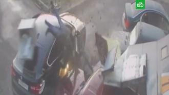 Сотрудник автосервиса протаранил BMW грабителей вПетербурге
