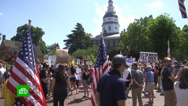 ВСША протестующие требуют разрешить здоровым людям ходить на работу.ВОЗ, Европа, США, Трамп Дональд, коронавирус, эпидемия.НТВ.Ru: новости, видео, программы телеканала НТВ