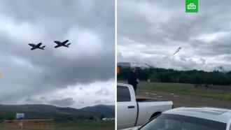 Крушение самолета канадских ВВС попало на видео