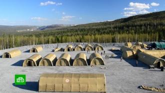 ВКрасноярском крае развернули мобильный госпиталь для золотодобытчиков с<nobr>COVID-19</nobr>