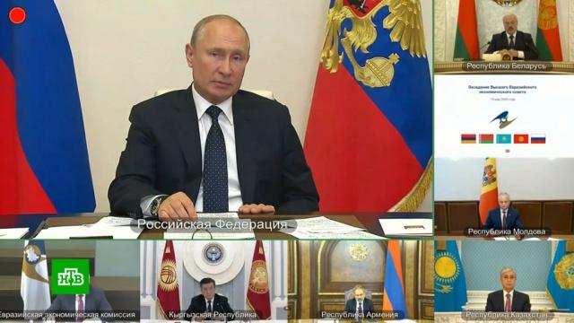 Путин объяснил отсутствие единого тарифа на транзит газа в ЕАЭС.Армения, Белоруссия, ЕврАзЭС/ЕАЭС, Путин, газ, тарифы и цены.НТВ.Ru: новости, видео, программы телеканала НТВ
