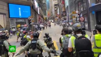 ВГонконге задержали протестующих скоктейлями Молотова