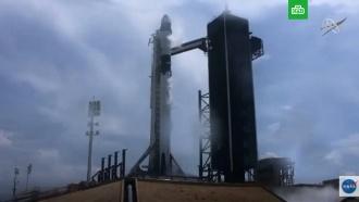 Crew Dragon вкосмосе: полное видео запуска