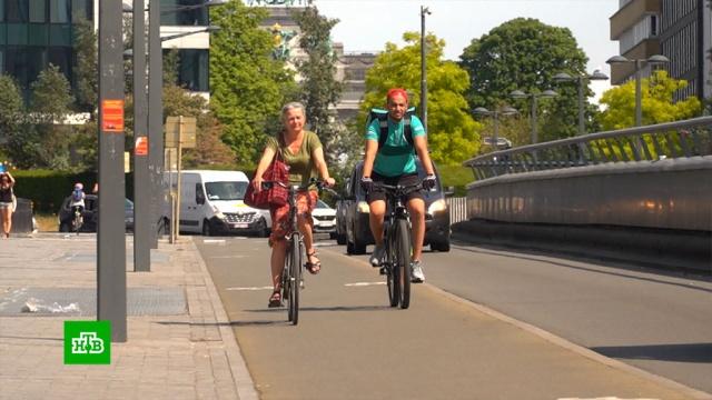 Красные велодорожки испециальные светофоры: как изменился европейский городской пейзаж.Бельгия, Европа, Европейский союз.НТВ.Ru: новости, видео, программы телеканала НТВ