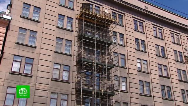 Петербургские эксперты думают, сносить или реставрировать балконы вдоме на Кирочной.Санкт-Петербург, архитектура, обрушение.НТВ.Ru: новости, видео, программы телеканала НТВ
