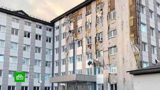 ВКабардино-Балкарии ураган разбил окна вгоспитале для больных COVID-19.Грозный, Чечня, аварии в ЖКХ, штормы и ураганы.НТВ.Ru: новости, видео, программы телеканала НТВ
