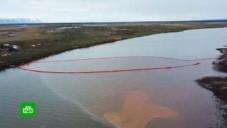 Как вКрасноярском крае спасают залитую дизельным топливом реку