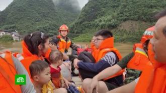 Вграндиозном наводнении на юге Китая погибли люди