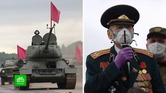 Под Петербургом репетицию парада Победы показали ветерану-фронтовику