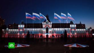Танцевальный флешмоб исветовое шоу: как врегионах отметили День России