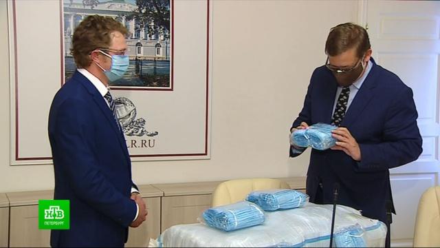 Меценаты подарили РНБ две тысячи масок.Санкт-Петербург, библиотеки и книгоиздание, благотворительность, коронавирус, эпидемия.НТВ.Ru: новости, видео, программы телеканала НТВ