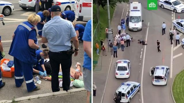 Стрельба вМоскве: ранены полицейские.ГИБДД, Москва, стрельба.НТВ.Ru: новости, видео, программы телеканала НТВ