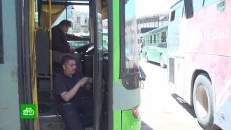 Всирийском Алеппо восстанавливают прерванное <nobr>из-за</nobr> войны автобусное сообщение