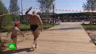 Москвичи открыли пляжный сезон вопреки запретам ипредупреждениям
