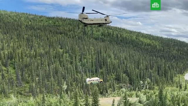 «В диких условиях»: автобус, по пути к которому погибла актриса, вывезли на вертолете.Аляска, США, кино, туризм и путешествия, экстремальные виды спорта.НТВ.Ru: новости, видео, программы телеканала НТВ