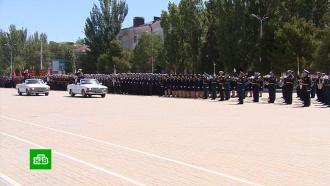 ВКаспийске прошел первый за 18лет парад Победы