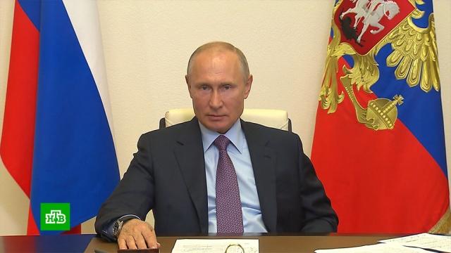 Путин потребовал «не допустить принудиловки» при голосовании по поправкам вКонституцию.Общественная палата, Путин, выборы, законодательство, конституции.НТВ.Ru: новости, видео, программы телеканала НТВ