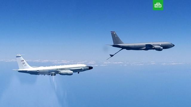 Российский Су-30 сопроводил самолеты-разведчики США над Чёрным морем.США, Чёрное море, армия и флот РФ, самолеты.НТВ.Ru: новости, видео, программы телеканала НТВ