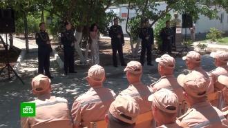 Ансамбль песни ипляски Южного военного округа выступил вСирии на базе вТартусе