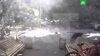 Момент взрыва вмосковской пятиэтажке сняли на видео