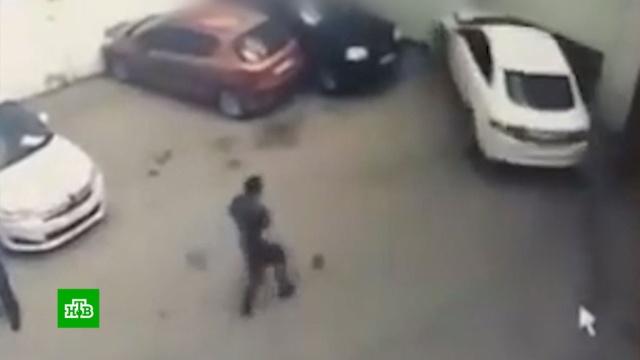 Девушка на Jaguar разгромила автомойку, пытаясь припарковаться: видео.ДТП, Тула, автомобили.НТВ.Ru: новости, видео, программы телеканала НТВ