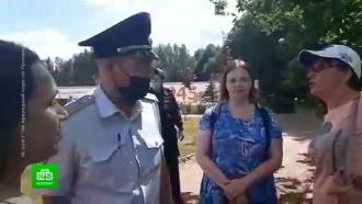 Полиция выкручивала руки защитникам парка в Ленобласти
