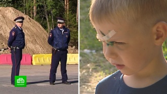 Герои с трассы: как полицейские спасли жизнь упавшему на штырь ребенку