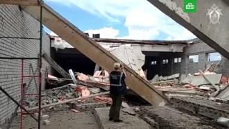 Видео с места обрушения ТЦ в Кировской области