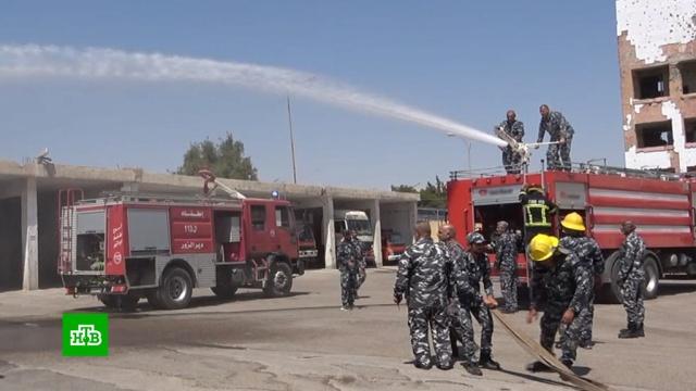 Сирийские спасатели готовятся кпожарам в40-градусную жару.Сирия, жара, лесные пожары, пожары.НТВ.Ru: новости, видео, программы телеканала НТВ