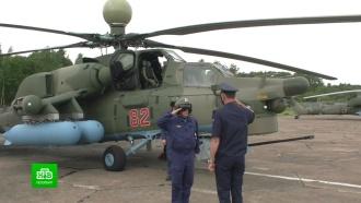 Вавиаполк ЗВО прибыли новейшие вертолеты <nobr>Ми-28</nobr>