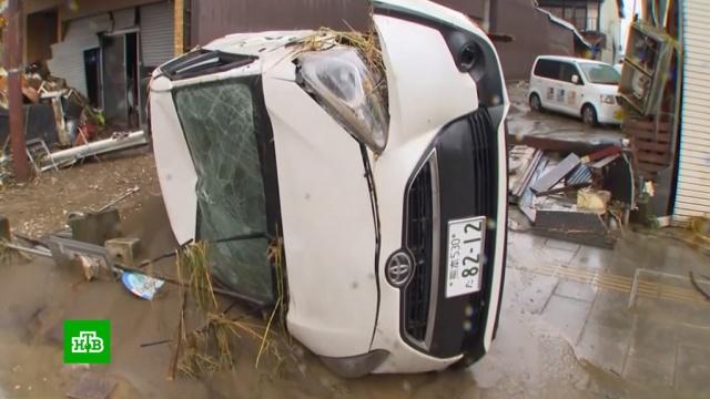 В зоне бедствия в Японии оказались 150 тысяч человек.Япония, наводнения, стихийные бедствия.НТВ.Ru: новости, видео, программы телеканала НТВ