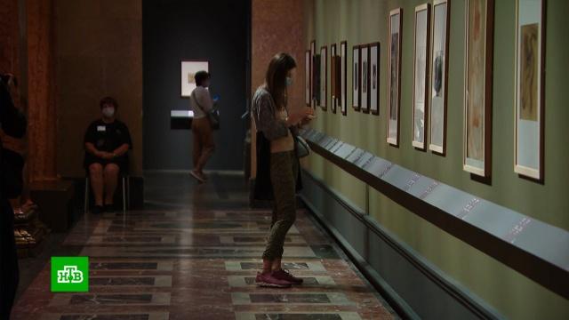 На экскурсию строго по времени: Пушкинский музей заработал по новым правилам.Москва, выставки и музеи, живопись и художники, карантин, эпидемия.НТВ.Ru: новости, видео, программы телеканала НТВ