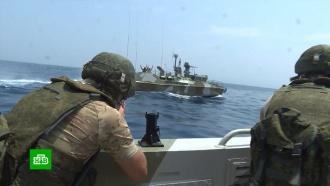Российские исирийские военные провели совместные морские учения