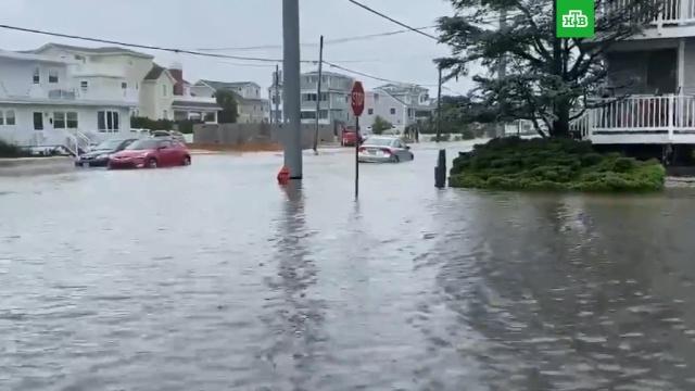 Тропический шторм «Фэй» обрушился на США.США, штормы и ураганы.НТВ.Ru: новости, видео, программы телеканала НТВ