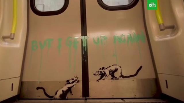 Бэнкси нарисовал чихающих крыс в лондонском метро.Великобритания, Лондон, граффити, живопись и художники, коронавирус, метро, эпидемия.НТВ.Ru: новости, видео, программы телеканала НТВ