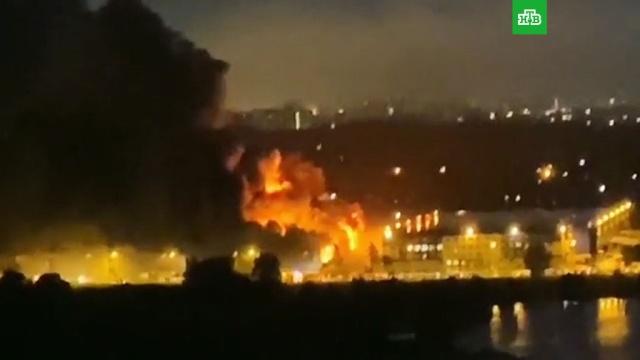 Мощный пожар на складе вПодмосковье.Московская область, пожары.НТВ.Ru: новости, видео, программы телеканала НТВ