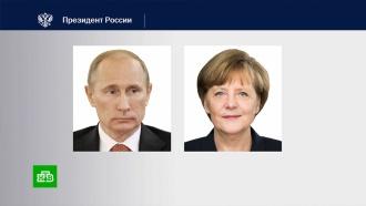 Путин иМеркель обсудили ситуацию на востоке Украины