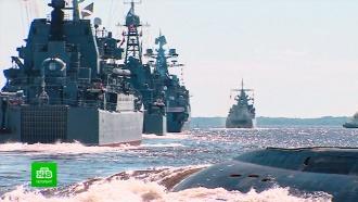К репетициям парада ВМФ в Финском заливе присоединились подводные лодки