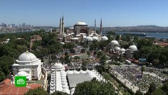 Эрдоган принял участие впервом с1934года намазе всоборе Святой Софии