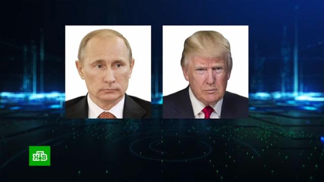 Путин иТрамп провели переговоры овооружениях.Путин, Трамп Дональд, вооружение, дипломатия, переговоры.НТВ.Ru: новости, видео, программы телеканала НТВ