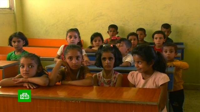 Российские военные вСирии помогают восстанавливать школу.Сирия, армии мира, войны и вооруженные конфликты, гуманитарная помощь, образование, школы.НТВ.Ru: новости, видео, программы телеканала НТВ