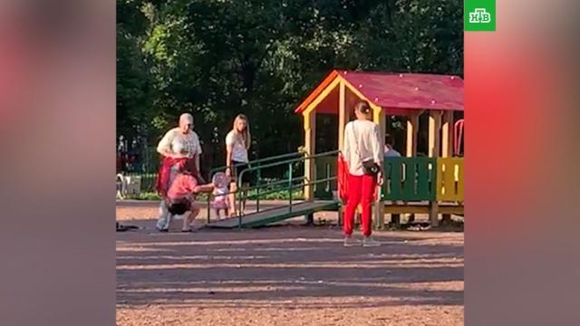Женщина избила девочку на детской площадке вПетербурге.Санкт-Петербург, дети и подростки, драки и избиения, нападения.НТВ.Ru: новости, видео, программы телеканала НТВ