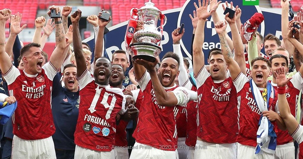 «Арсенал» победил «Челси» в финале Кубка Англии по футболу ...