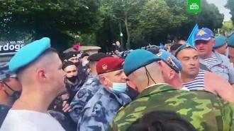Десантников вПарке Горького призвали кдостойному поведению